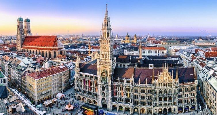 München bei Regenwetter