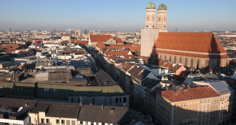 City von München, Munich from above